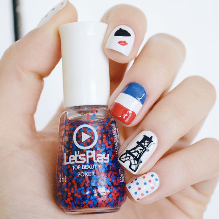 Tutorial nail art inspirada em Paris