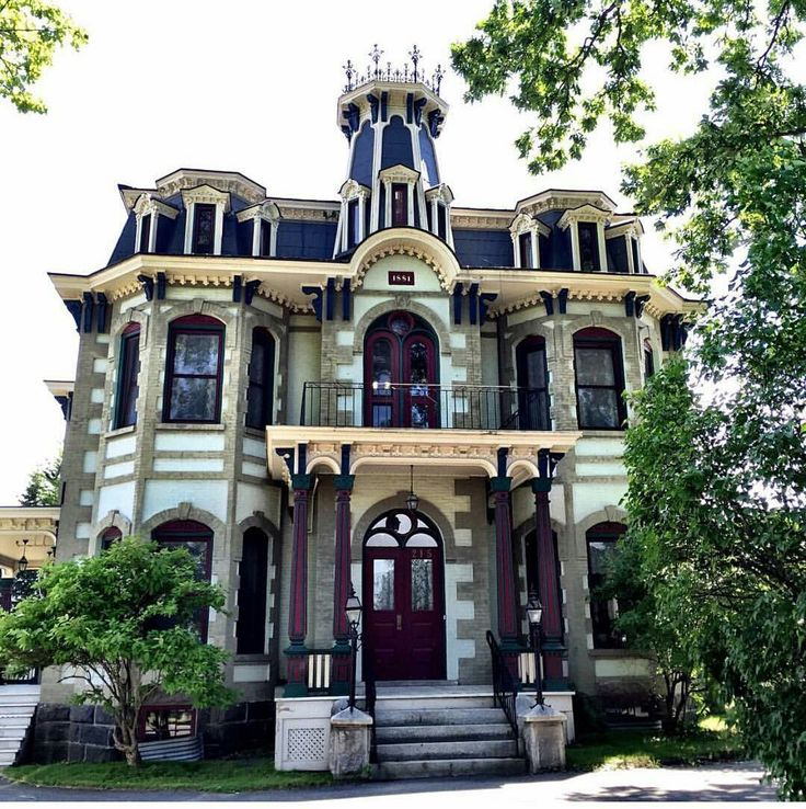 Located in Cowansville,Quebec, Canada, is this Gorgeous second empire Victorian