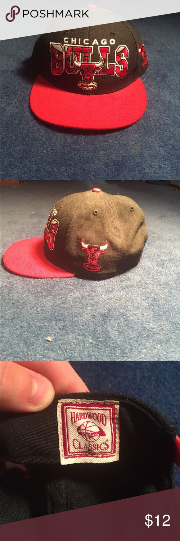NBA Chicago Bulls Snapback | Hardwood Classics chicago bulls snapback hat, slightly worn but still great condition. 47 brand Accessories Hats