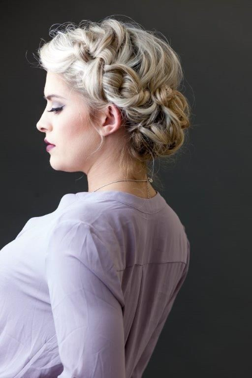 Braided updo. Love the volume and dimension | Carrie Purser Makeup and Hair Artistry