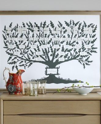 Family Tree - DIY  http://www.marthastewart.com/350358/family-memorykeeping-clip-art-and-templates/@Virginia Stokes/326420/martha-stewart-clip-art-and-template-crafts#918597