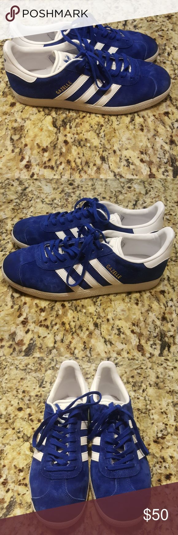 ADIDAS GAZELLE UNISEX Sneakers are made with  Pigskin leather upper in archival colors.Contrasting 3-Stripes and heel tab that echo early '90s style.Rubber outsole for durability and traction.SNEAKERS ARE USED IN GREAT CONDITION AS SHOWN PLEASE REVIEW ALL PIX SOLE A LITTLE  DIRTY OTHER THEN THAT BEAUTIFUL 😊(LADIES FITS A 7.5) adidas Shoes Sneakers