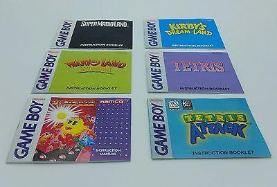 Lot of 6 Original Nintendo Gameboy Game Boy Instruction Booklet Manual
