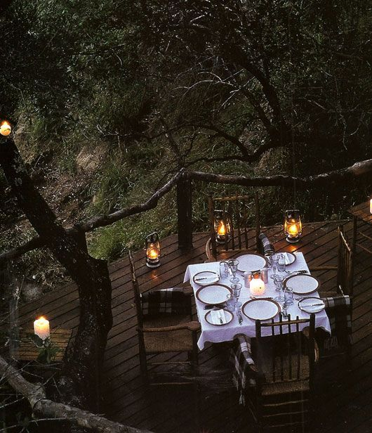 There is nothing better than dinner and wine outside on a warm summer night with friends...