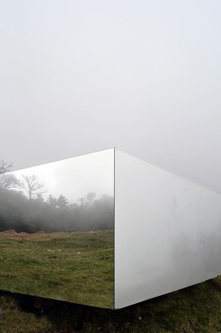 Cool reflection of nature on a house in Equador from Fatura Futura Arquitectura.
