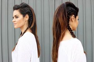 прическа с стиле рок на длинные волосы видео