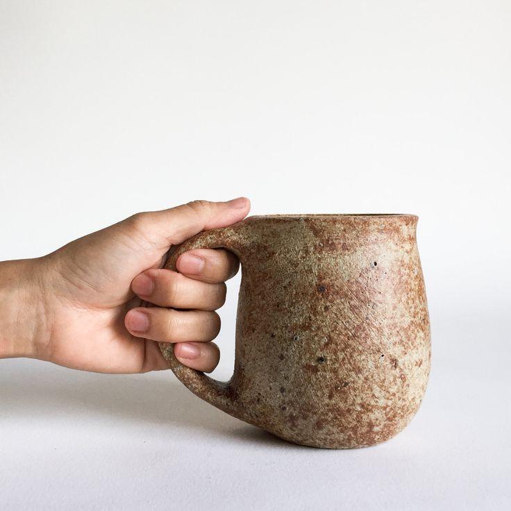RUSTIC BROWN MUG 16 oz, ceramic, ceramics, pottery, handmade, coffee, tea, hot, cocoa, milk, water, chai, latte, juice, beer, mugs by KimHauCeramics on Etsy