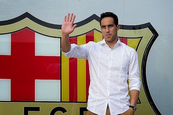 Claudio Bravo ya esta en Barcelona