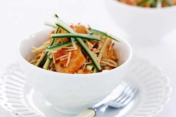Thai Chicken with Cucumber and Noodles