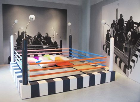 The Tawaraya boxing ring bed was the work of the Memphis group