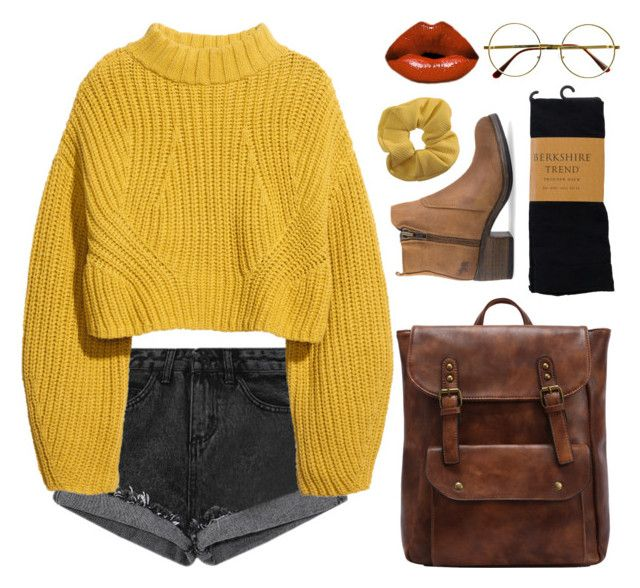 yellow // February 17 by flxvescent on Polyvore featuring polyvore moda style H&M Topshop Retrò fashion clothing