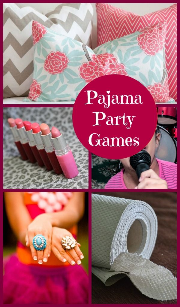 Looking for fun party games for kids? Release the Giggles with these Fun Pajama Party Games For Girls