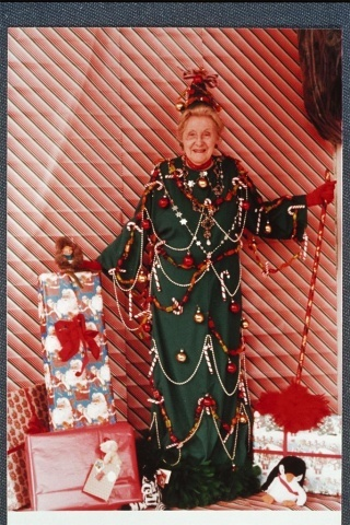 """""""Woman Costumed as a Christmas Tree 1984"""" This is AWESOME!!!"""