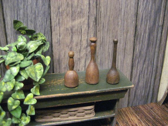 Dollhouse Miniature Potato Mashers Collection Turnip Masher