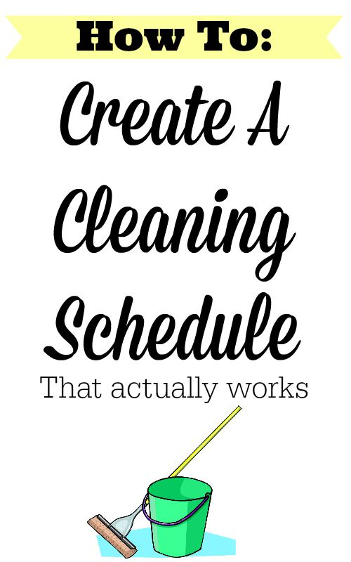 Bsta Cleaning Schedule Templates Iderna P