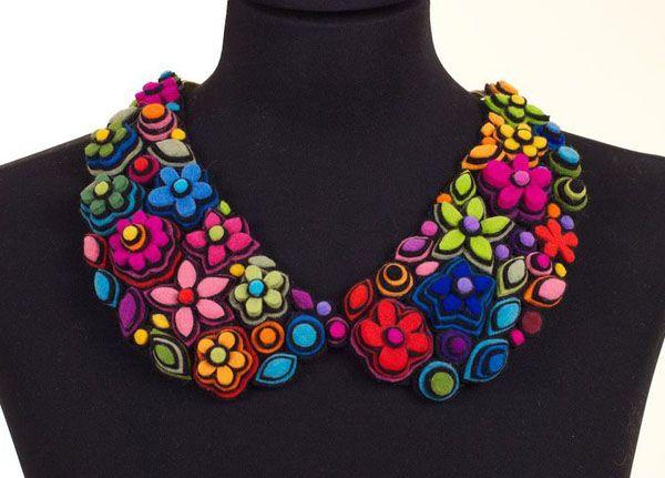 danielle gori-montanelli - neckpiece : peter pan collar #felt