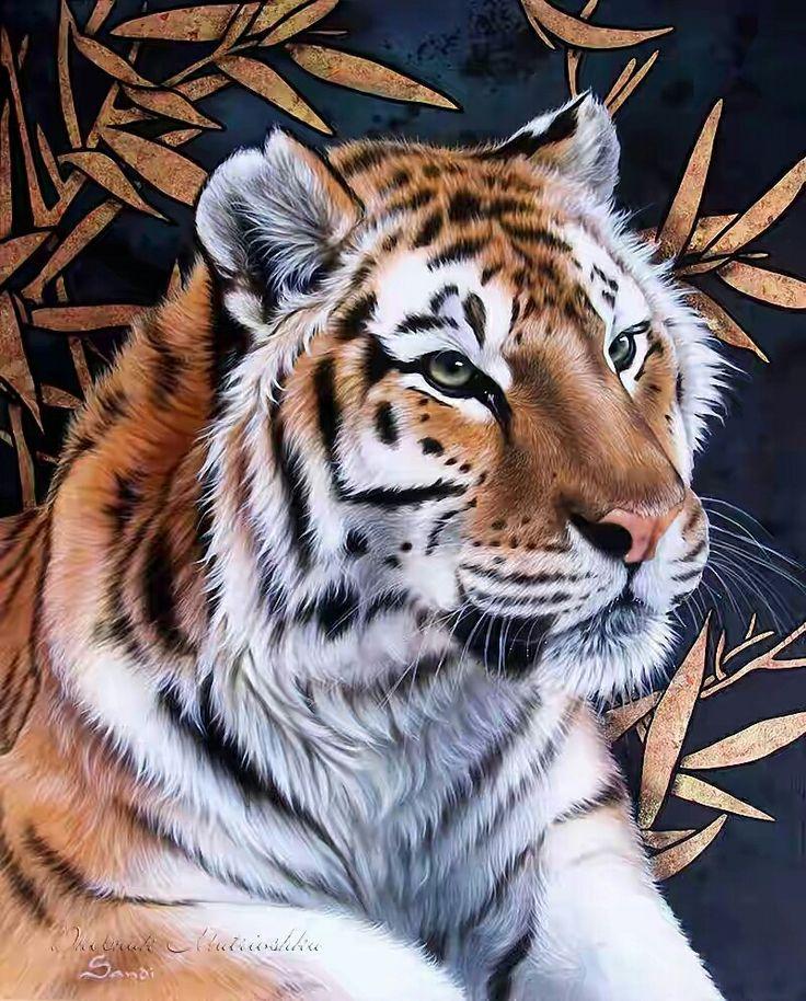 Тигры в картинках рисованные