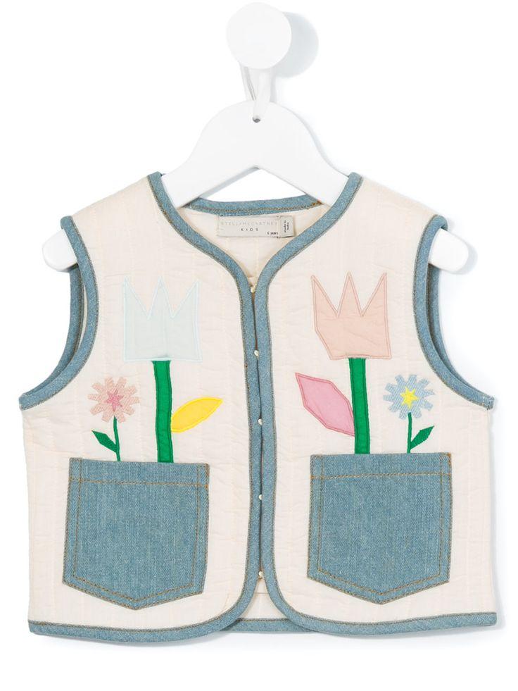 #stellamccartney #kids #vest #flower #ivory #blue #pink #girls #style  www.jofre.eu