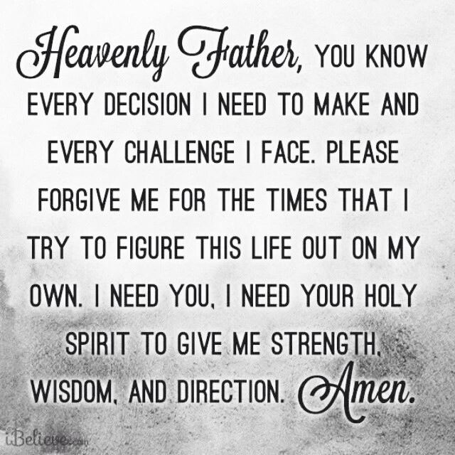Prayer for strength, wisdom and direction | Love An Other True Stuff