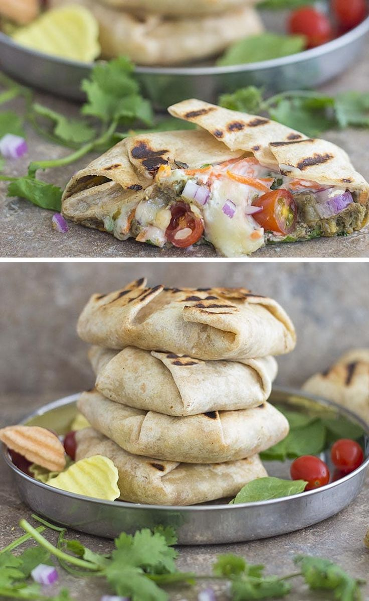 Mini Crunch Wraps - A different take on the traditional crunch wrap. Made with all organic ingredients like broccoli, cheese, black beans and mushrooms. The best part is that the veggies are hidden. It's the perfect brown-bag lunch recipe for kids and adults #ad #GetCheesy @SoFabFood