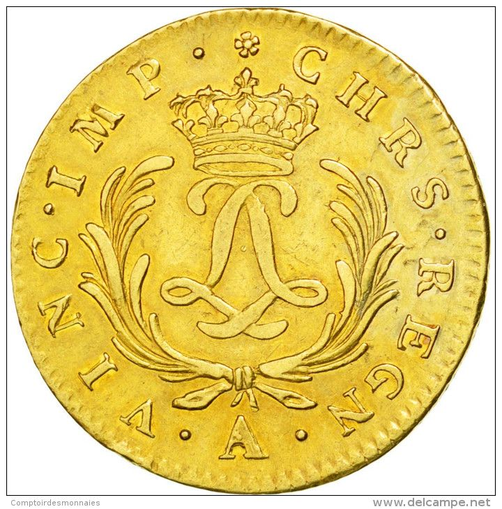 Louis XV, Double Louis D'or Mirliton, 1724 A, Paris, PCGS XF45, Gadoury 345 - 987-1789 Monnaies Royales
