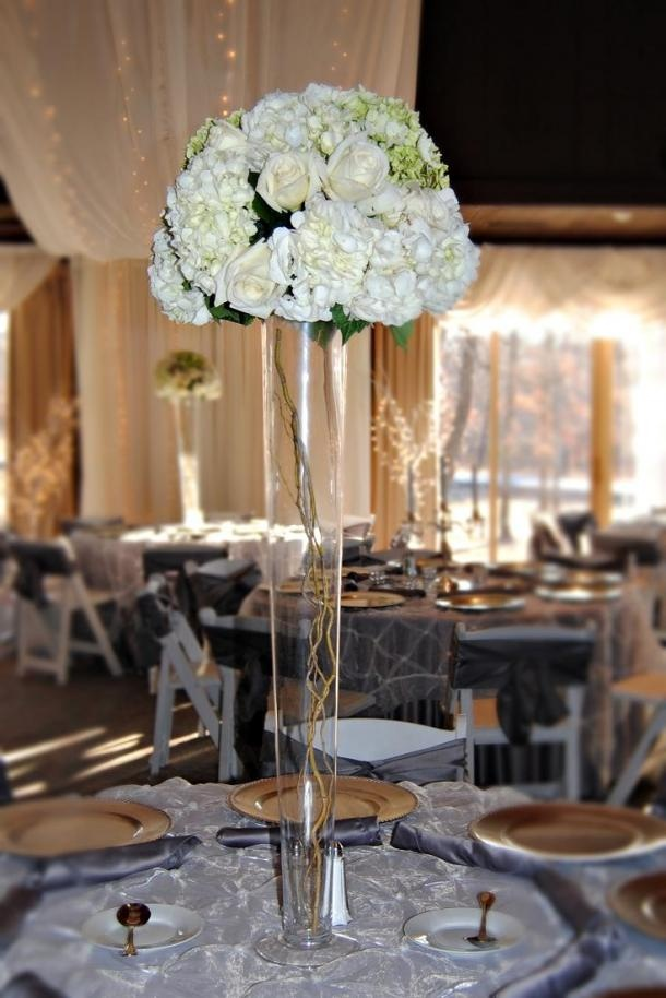 love the tall center pieces but I want fall colors