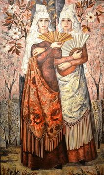 «Две испанки в саду» начала 30-х // Наталья Гончарова. © Государственная Третьяковская галерея
