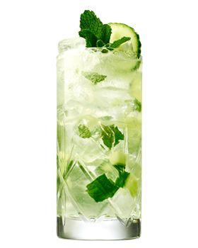 Hendrick's Summer Mule: Hendrick's Gin, lime juice, elderflower cordial, mint leaves, cucumber, ginger beer