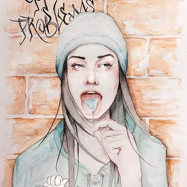 but a ? ain't one  #watercolor#watercolour#watercolorpainting#aquare#aquarelle#aquarellepainting#aquarelpainting#99problems#taylorgang#portrait#beanie#illustrationoftheday#instaart#habologique#brickwall#lolipop#paint#illustration