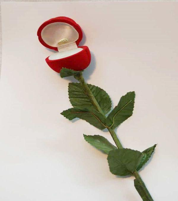 Cajita de flor para anillos