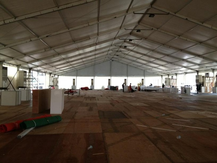 This empty shell will be transformed into the stunning QNet pavilion in 3 days! So excited for V-Indonesia 2012!