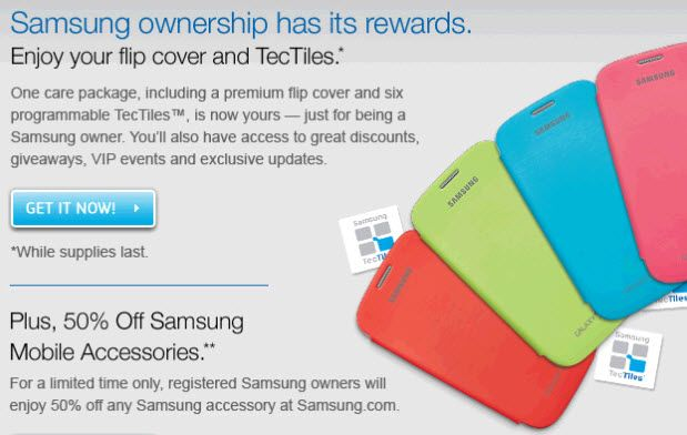 Free Samsung Flip Cover for Galaxy SIII or Note II Owners! Hurry!