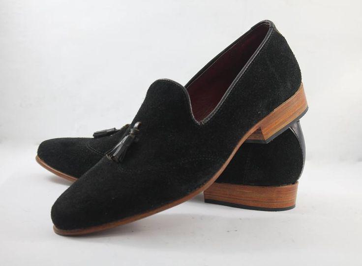 Image result for handmade mens black suede leather mocassins, men's black dress leather shoes - black - suede