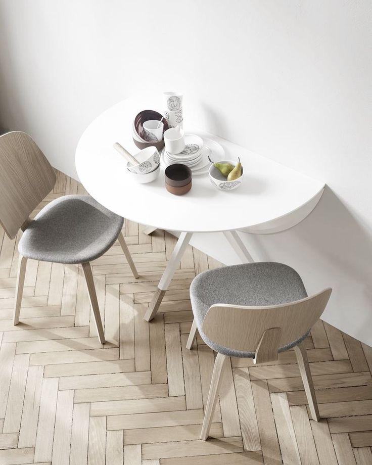 Modern Dinning Table With New Aarhus Chairs Scandinavian Interior Design  Minimalistyczny Skandynawski Design Funkcjonalny BoConcept Trójmiasto