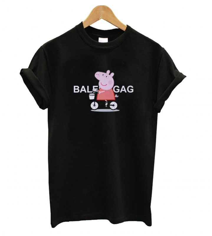 2c629d40b Balenciaga x Peppa Pig Bicycle Cartoon T shirt in 2019 | T shirt ...