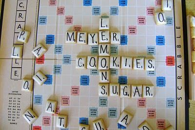 Scrabble CookiesScrabble Cookies, Artists Cookies, Adobo Met, Plays Scrabble, Cookies Exchange, Met Feijoada, Lemon Cookies, Cookies Scrabble, Lemon Sugar Cookies