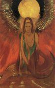 The Flame (Goddess of Fire) 1896 - Odilon Redon - www.odilon-redon.org | French painter