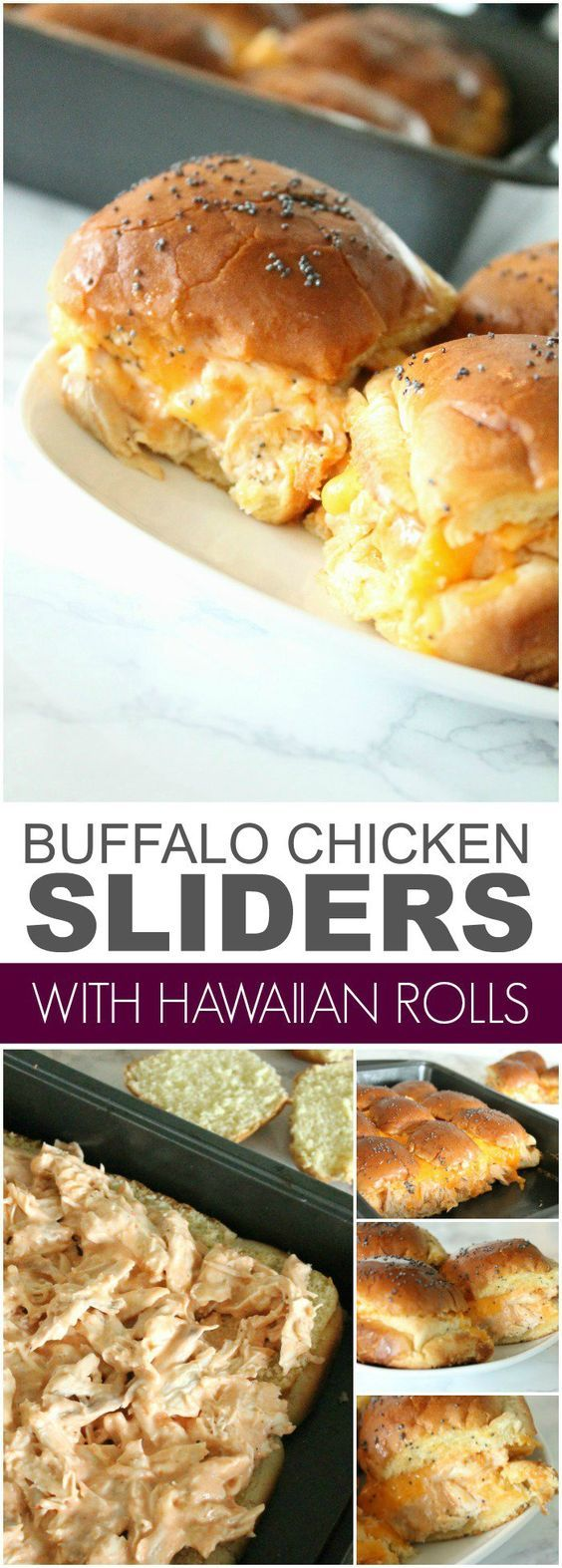 Buffalo Chicken Sliders! Easy Snack or Appetizer Recipe for a party or for the Super Bowl! Game Day Party Recipes!