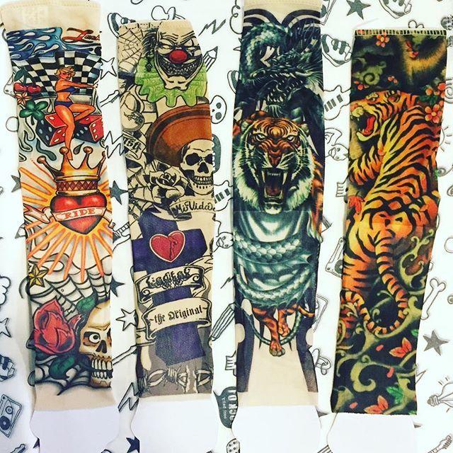 Las nuevas mangas tatuadas ya están aquí!! (5€/unidad) . . . . . . Tattoo sleeves back in stock again!! #tattoosleeve  #forkids #cool #macarras #rock01