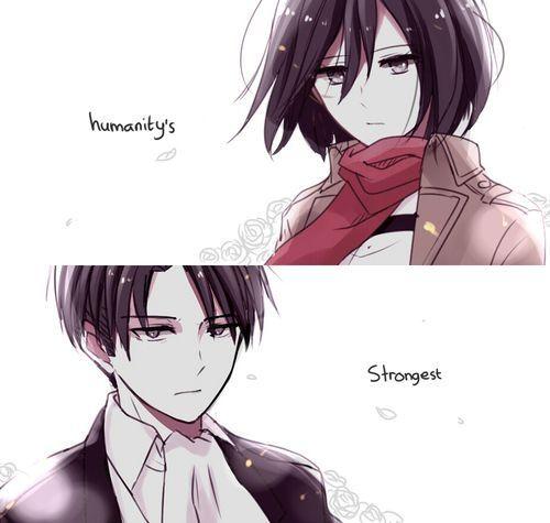 Mikasa Ackerman and Rivaille (Levi) | Shingeki no kyojin ...