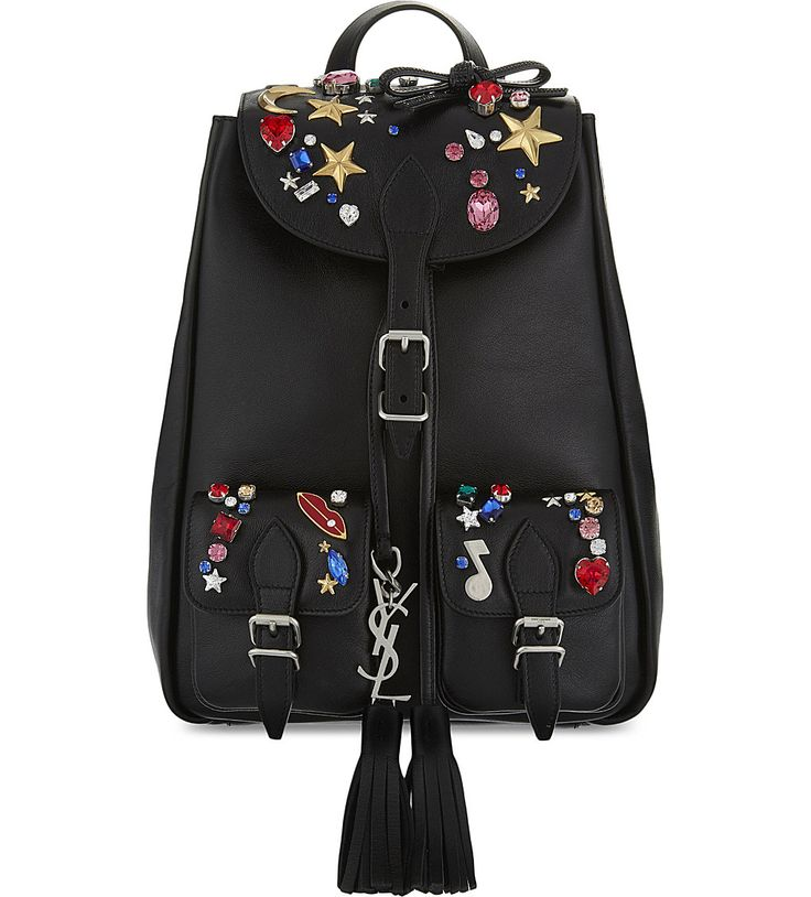 SAINT LAURENT Festival Small jewel leather backpack