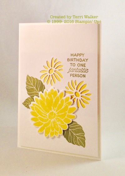 A Special Reason birthday card. This is a new bundle (stamp set and framelits) in the 2017 Occasions catalog.