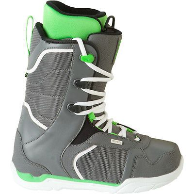New In Box Ride Snowboard Boots Orion 9 42 Gray Lime Men All Mountain - Snowboard Shack