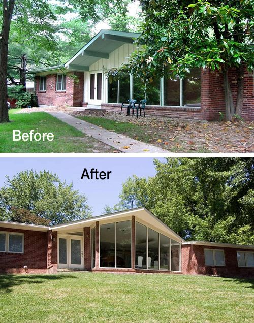 Making a mid-century ranch house even more modern, in Creve Coeur, MO.