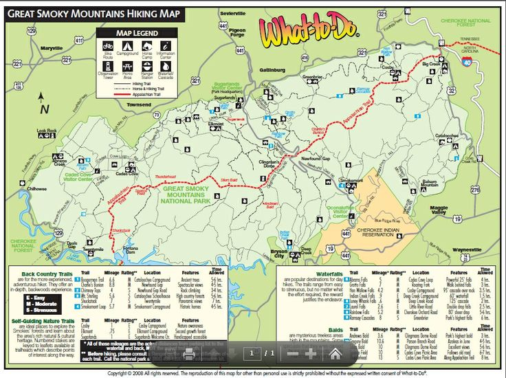 Gatlinburg hiking map or http www for Cabin rentals near hiking trails