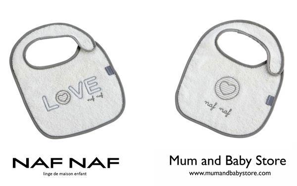 Bibs 24 x 33 cm NAF NAF - LOVE GREY