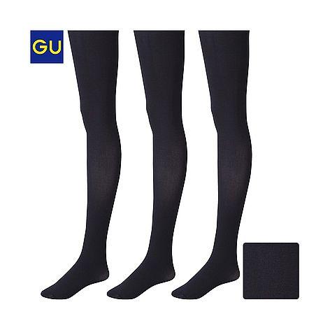 (GU)カラータイツ(100デニール・3足組) - GU ジーユー