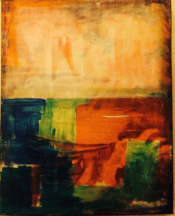 20x10 acrylic canvas Marie Lardino