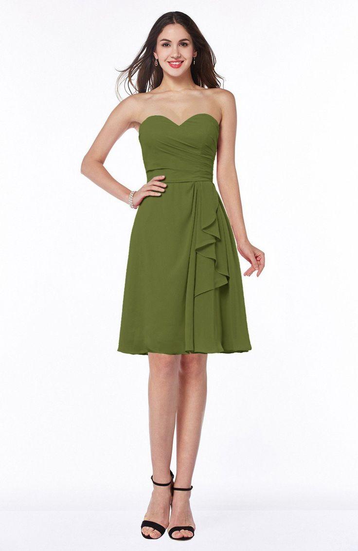 25 cute olive green bridesmaid dresses ideas on pinterest olive olive green bridesmaid dress casual a line zipper chiffon knee length short ruching ombrellifo Choice Image