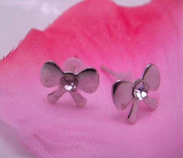 Silver Tone Crystal Bow Stud Earrings #silver #crystal #bow #studearrings #earrings #jewellery #women #ladiesfashion #xmas #christmas http://m.ebay.co.uk/itm/Free-Gift-Bag-Silver-Tone-Crystal-Bow-Stud-Earrings-Ladies-Jewellery-Costume-/282067359627?nav=SELLING_ACTIVE